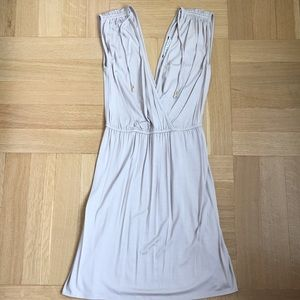 Trina Turk Grey Vneck Dress Size 0